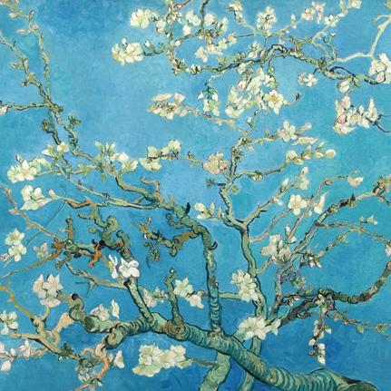 Kaart met envelop Vincent van Gogh Amandelbloesem