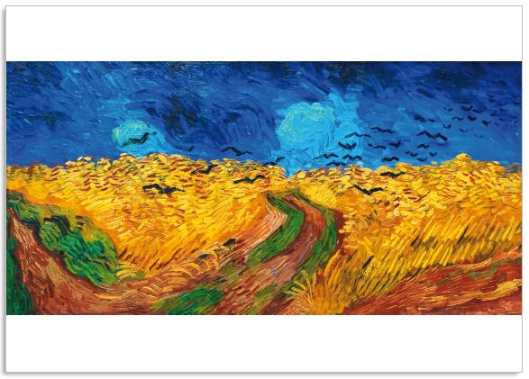 Ansichtkaart Vincent van Gogh Korenveld met kraaien