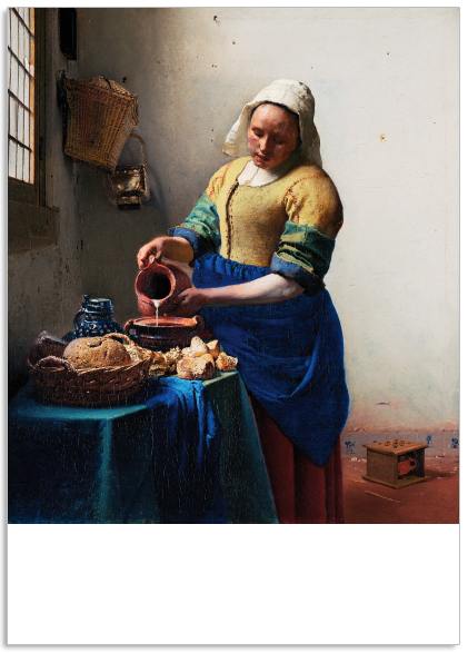 Ansichtkaart Het melkmeisje Johannes vermeer