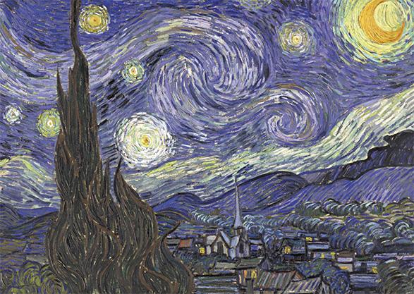 Ansichtkaart Vincent van Gogh Sterrennacht
