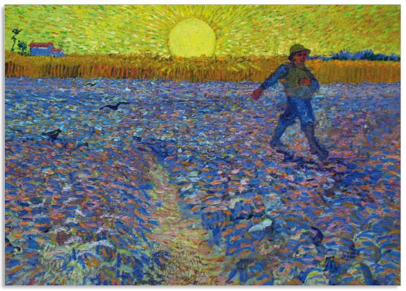 Ansichtkaart Vincent van Gogh De Zaaier
