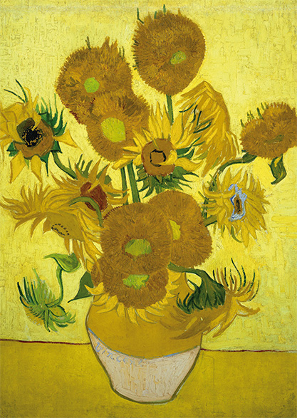 Ansichtkaart Vincent van Gogh Zonnebloemen